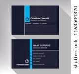 business model name card luxury ... | Shutterstock .eps vector #1163504320