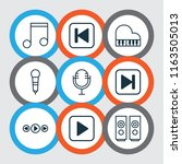 music icons set with music ...