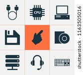 gadget icons set with cursor ... | Shutterstock .eps vector #1163505016