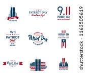 set of various patriot day...   Shutterstock .eps vector #1163505619