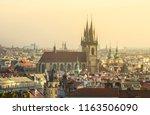 cityscape view of prague  czech ... | Shutterstock . vector #1163506090
