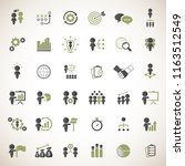 business strategy icons set. | Shutterstock .eps vector #1163512549