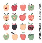 colorful collection of hand... | Shutterstock .eps vector #1163512906