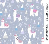 christmas seamless pattern with ... | Shutterstock .eps vector #1163534530