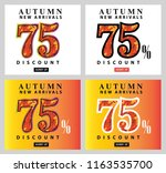 autumn sale interest offer card ... | Shutterstock .eps vector #1163535700
