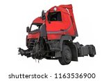 the image of crash truck under...   Shutterstock . vector #1163536900