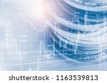 stock market or forex trading... | Shutterstock . vector #1163539813