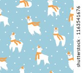 winter seamless pattern with... | Shutterstock .eps vector #1163541676
