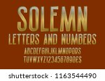 solemn letters and numbers with ... | Shutterstock .eps vector #1163544490