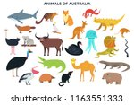 big collection of cute funny... | Shutterstock .eps vector #1163551333