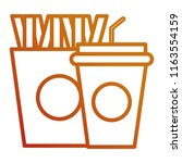 delicious french fries and soda | Shutterstock .eps vector #1163554159