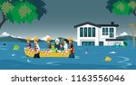the rescue team brought the...   Shutterstock .eps vector #1163556046