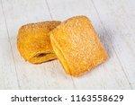 sweet tastu bun with jam   Shutterstock . vector #1163558629