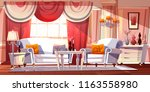 lounge room luxury interior... | Shutterstock .eps vector #1163558980