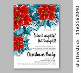 red poinsettia christmas party...   Shutterstock .eps vector #1163562040