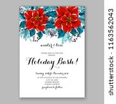 red poinsettia christmas party... | Shutterstock .eps vector #1163562043