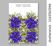 blue poinsettia christmas party ... | Shutterstock .eps vector #1163562046