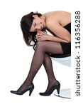 sexy woman posing   Shutterstock . vector #116356288