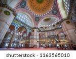 istanbul  turkey   august 13 ... | Shutterstock . vector #1163565010