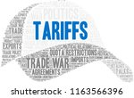 tariffs word cloud on a white... | Shutterstock .eps vector #1163566396