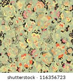 decorative floral seamless...   Shutterstock .eps vector #116356723