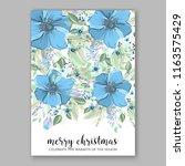 winter floral vector background ...   Shutterstock .eps vector #1163575429