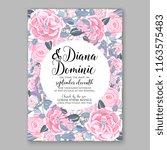 ranunculus wedding invitation... | Shutterstock .eps vector #1163575483