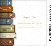 vector background with suitcases | Shutterstock .eps vector #116357896