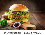 Fresh Tasty Chicken Burger On...