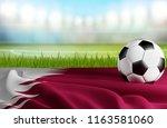 qatar soccer ball 3d... | Shutterstock . vector #1163581060