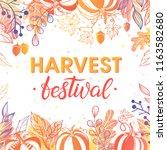 autumn harvest festival poster... | Shutterstock .eps vector #1163582680