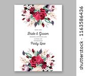 wedding invitation marsala... | Shutterstock .eps vector #1163586436