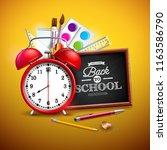 back to school design with... | Shutterstock . vector #1163586790