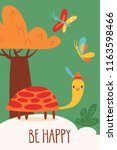 cool vector card or poster with ... | Shutterstock .eps vector #1163598466