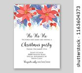 Red Poinsettia Christmas Party...