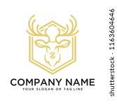 logo design deer | Shutterstock .eps vector #1163604646