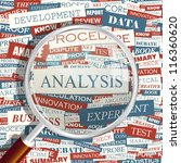 analysis. seamless word collage.... | Shutterstock .eps vector #116360620