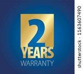 2 years warranty gold blue logo ... | Shutterstock .eps vector #1163607490