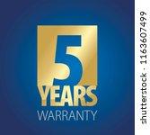 5 years warranty gold blue logo ... | Shutterstock .eps vector #1163607499