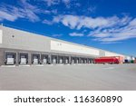 trailers at the loading docks | Shutterstock . vector #116360890