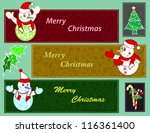 christmas with iceman | Shutterstock .eps vector #116361400