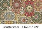 vector patchwork quilt pattern. ... | Shutterstock .eps vector #1163614720