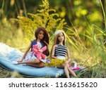 a beautiful barbie with white... | Shutterstock . vector #1163615620