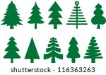 christmas trees | Shutterstock .eps vector #116363263