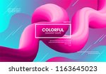 abstract modern background with ... | Shutterstock .eps vector #1163645023