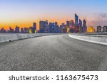 urban road asphalt pavement and ... | Shutterstock . vector #1163675473