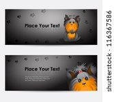 set of vector banners with... | Shutterstock .eps vector #116367586
