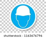 vector design of safety helmet... | Shutterstock .eps vector #1163676796