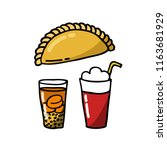 empanada. stuffed bread or...   Shutterstock .eps vector #1163681929