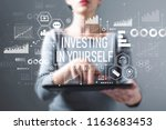investing in yourself with... | Shutterstock . vector #1163683453